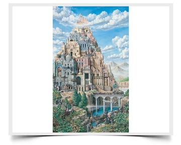 Babel - Fiction Painting Print by Howard Fox Artist
