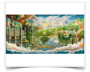 Heaven Imagine - Imaginative Realism Painting Print by Howard Fox Artist