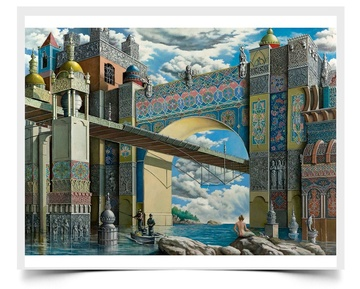 Under the Bridge - Fiction Painting Print by Howard Fox Artist