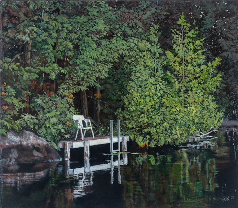 Hotel Utopia, The Dock Series 1 - Hotel Utopia Painting Pardes Hanna-Karkur by Howard Fox Artist